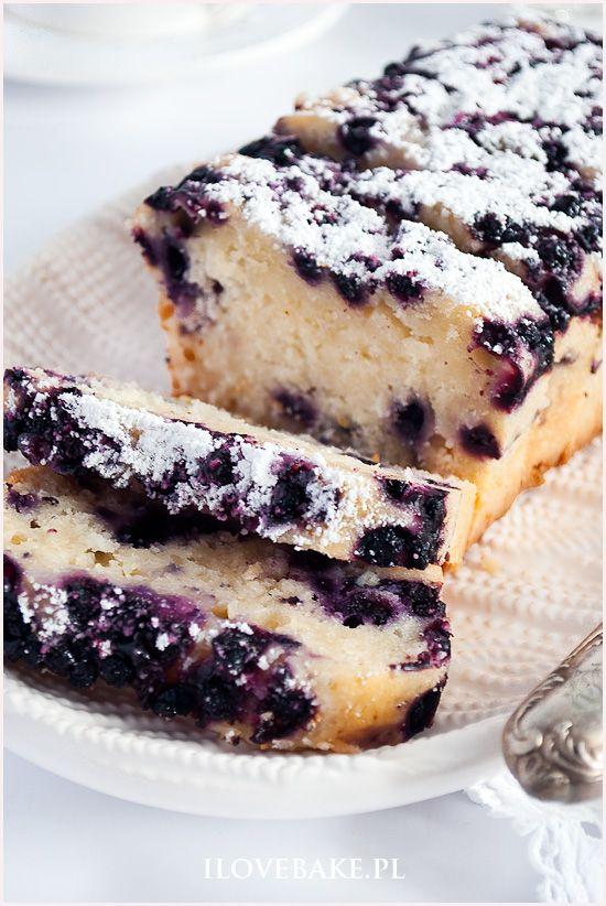 Kokosowe ciasto z jagodami #blueberry #food #cake #coconut