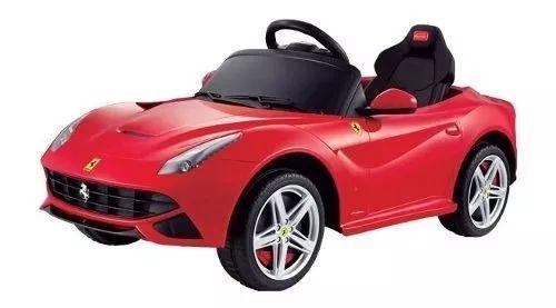 auto a bateria para niños ferrari f12 rojo
