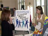 Health educators at wellness fair