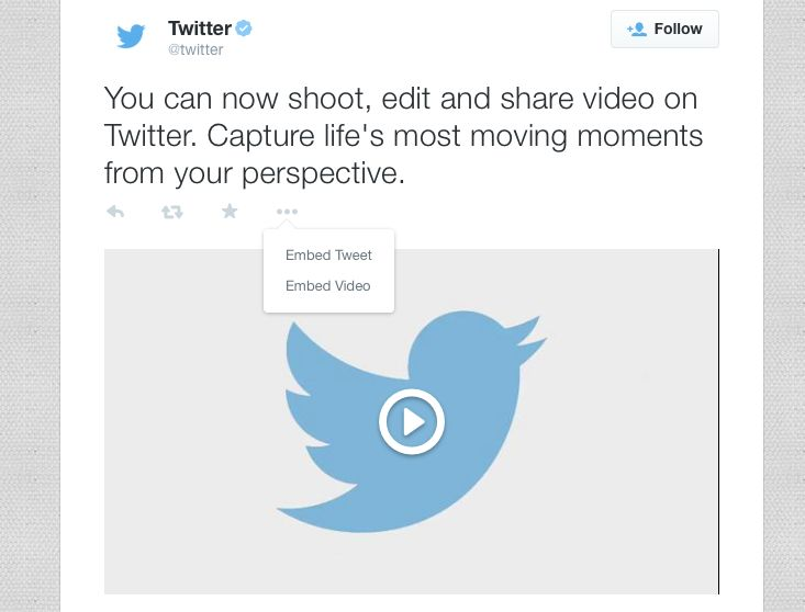 You Can Now Embed Twitter Video On Your Website   TechCrunch