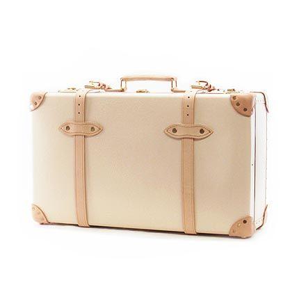 """グローブトロッター GLOBE TROTTER スーツケース SAFARI 26 """"Suit Case GTSAFCB26SC Ivory/Natural Brown"""