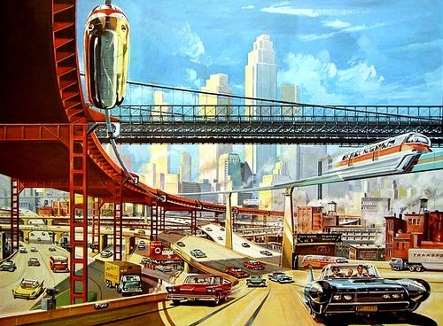 Retro futurism is the best! Artwork by Klaus Burgle.