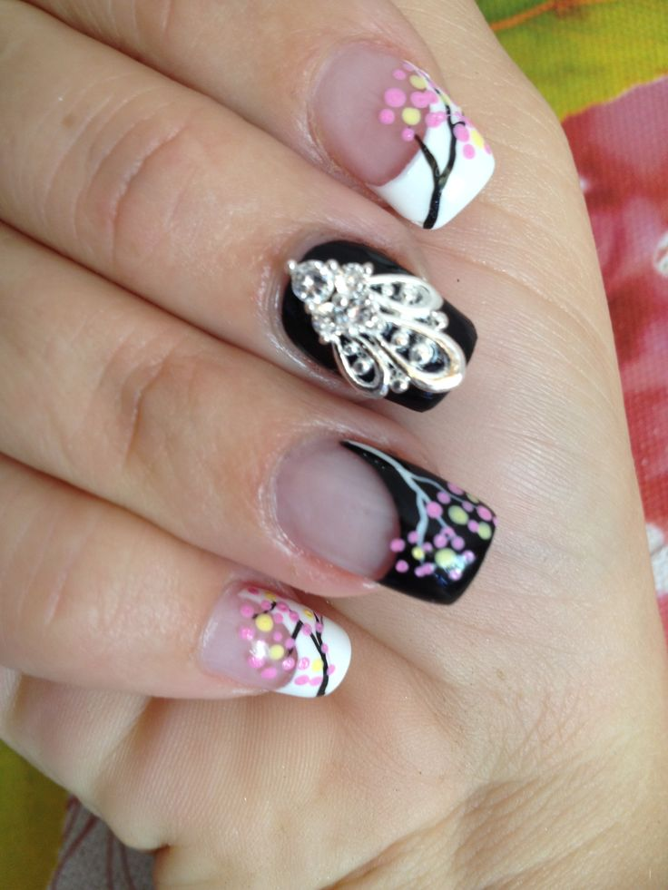 """""""Oriental Express"""" Nail Veil  3D Nail Art Jewels available on our website www.nailcandi.co.za The ONLY reusable nail art available! #3DNailArt #NailArtCharms #NailCandy"""