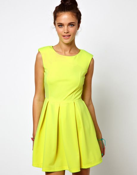 Glamorous Neon Skater dress