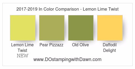 New Lemon Lime Twist 2017-19 In Color by Stampin' Up! #dostamping