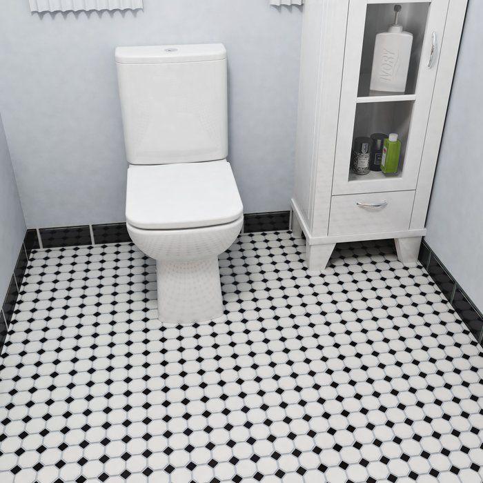 Retro Random Sized Porcelain Mosaic Tile In Matte White Black Porcelain Mosaic Tile White Mosaic Tiles Porcelain Mosaic