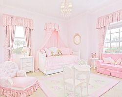 Gorgeous white & pink bedroom