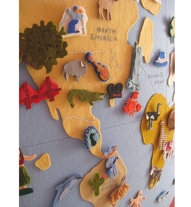 Best WALL MAP Images On Pinterest World Maps Felt Boards And - Fao schwarz felt us wall map giant