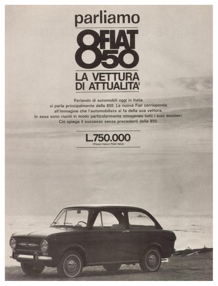Fiat 850 ad