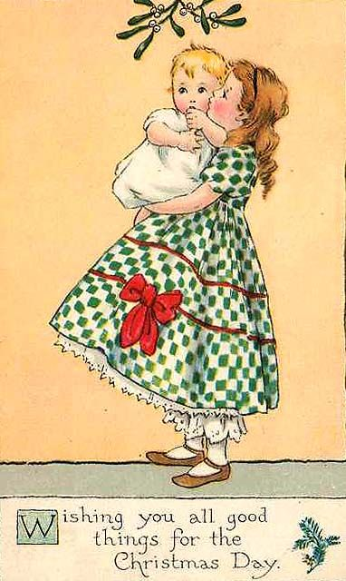 Old Christmas Post Card – (382×640)