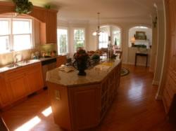 Granite countertops, large island, real hardwood floors. great kitchen for entertaining!
