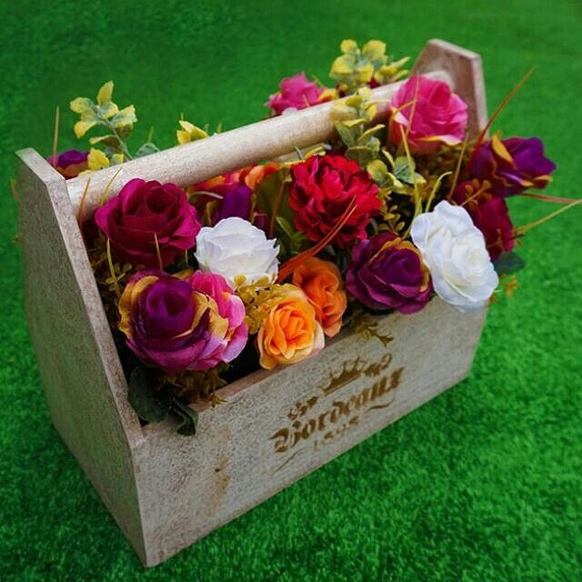 SALE. Flower pot / Toolbox 30cm. Good quality material. Sale from IDR580,000 to IDR430,000.  CODE: WB-30 READY STOCK