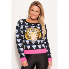 25% OFF RRP - Check out THis Neon Rose Tiger Face Retro Jumper In the Style of KENZO as seen on Sam Faiers from The ONly Way is Essex RRP £34 Rokii £25.50, on the NEW ROKII ONLINE SHOP, Rokii Portsmouth, www.rokii.co.uk Order through FB or on the phone 02392294081 and get FREE LOCAL DELIVERY PO1-PO6, Lay Away until Christmas, Buy-Wrap-Deliver Service available