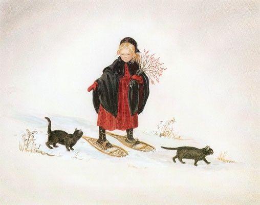 """""""laura in the snow"""" by tasha tudor"""