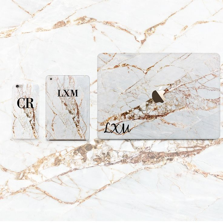 Personalised Cracked Marble initial Phone, iPad and MacBook cases - LIVE x MAINTAIN