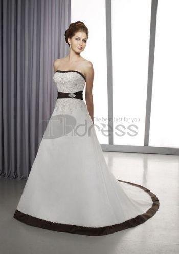 Abiti da Sposa Colorati-Senza spalline ricamare abiti da sposa colorati