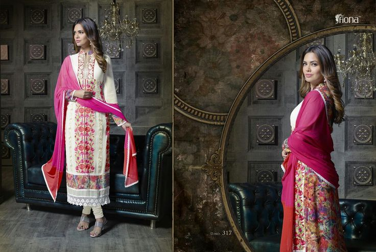 White and Floral Salwar Kameez.. write us for enquiries: hello@thebollywoodbazaar.com