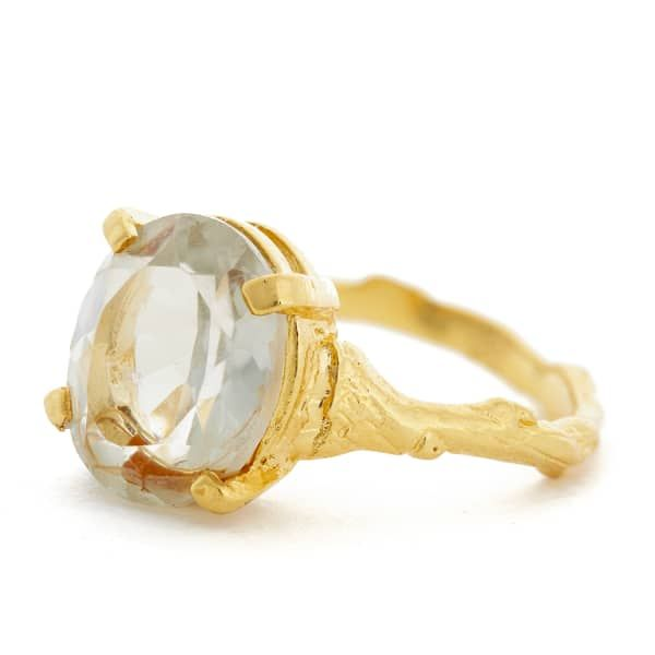 Drop In The Wild Ring with Prasiolite & Gold | Chupi | Wolf & Badger