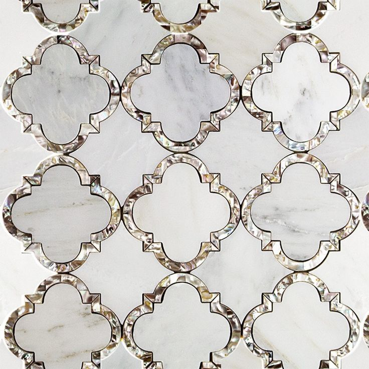 Gorgeous mother of pearl and marble mosaic tile designed by Cassie Chapman.  I had the pleasure of meeting this lovely person while in Nashville!