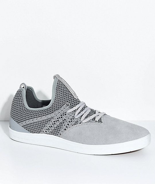 "Diamond Supply ""All Day""   Knit & Suede Skate Shoes"