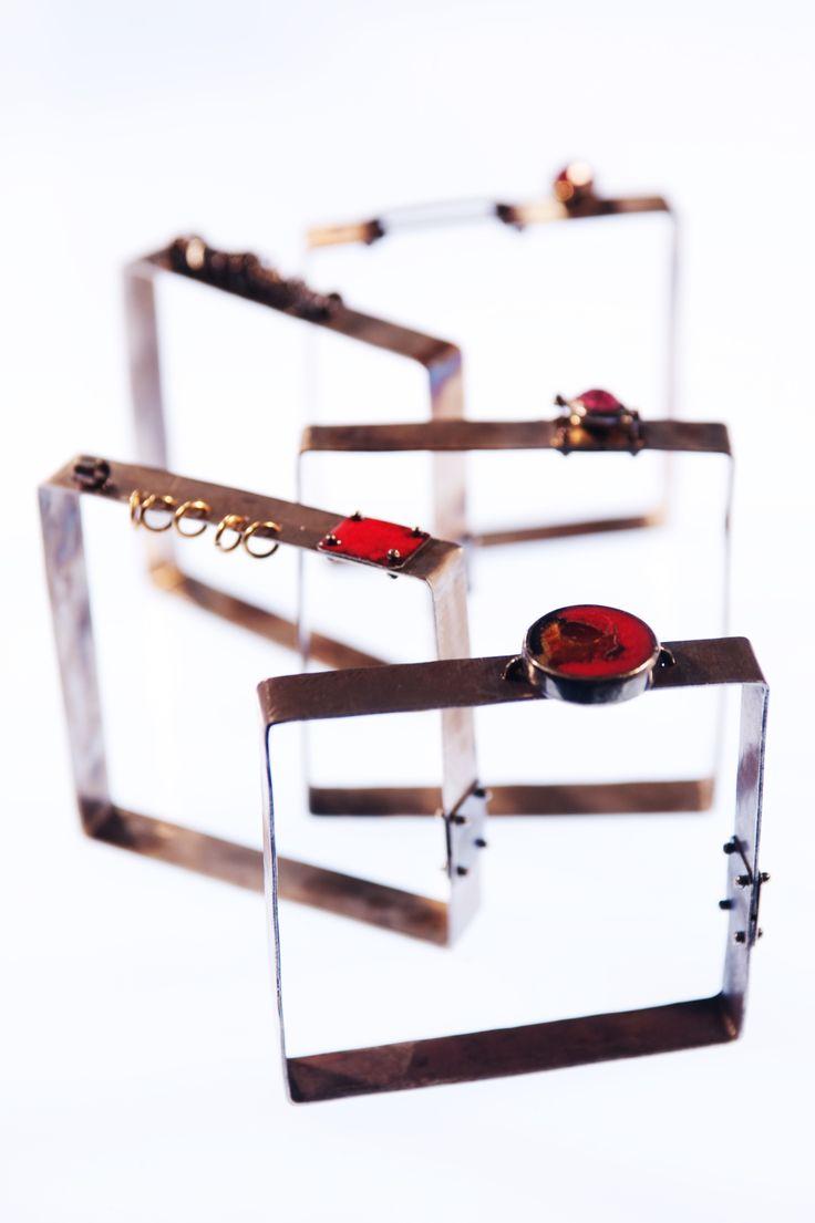 PIGMENTI bangles Gold, Silver, Steel and Enamel #zero43 info@zero43.com