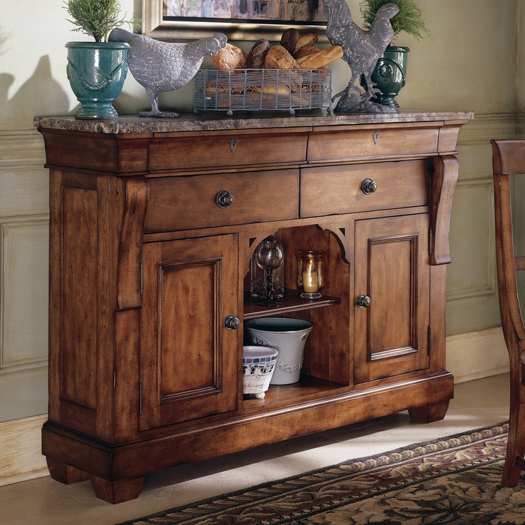 Kincaid Furniture Tuscano Sideboard With Marble Top   Becker Furniture  World   Buffet Twin Cities, Minneapolis, St.