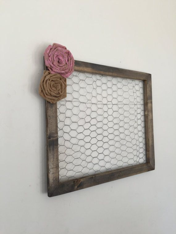 Chicken Wire Frame 20x17 by GingerBlondeBoutique on Etsy