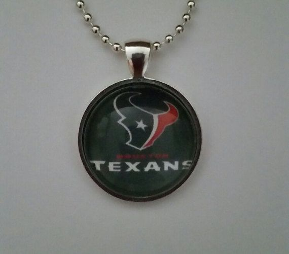 Houston Football necklace 24 silver plated by BrumbleBerryBoutique