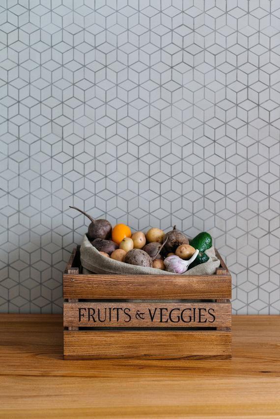 Große Holzkiste Küche Aufbewahrungsbox Apfelkiste | Etsy   – Home Decor
