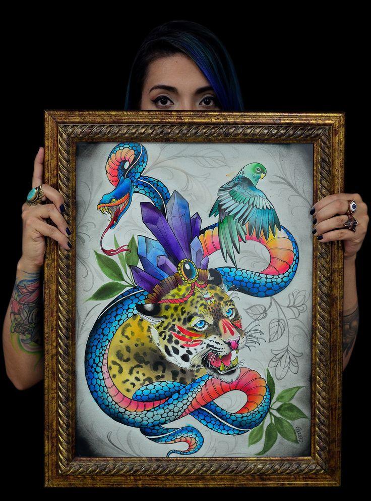 Caro cortes Colombian tattoo artist. http://carocortes.tumblr.com/ http://www.carocortes.com/ #carocortes #colombiantattooartist #tatuadorescolombianos #tatuadora #watercolor #acuarela
