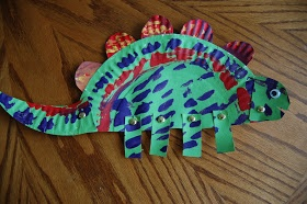 I HEART CRAFTY THINGS: Paper Plate Dinosaurs