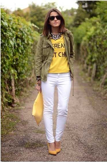 30 best images about outfits con pantalon blanco on Pinterest | Clutches Winter and Preppy