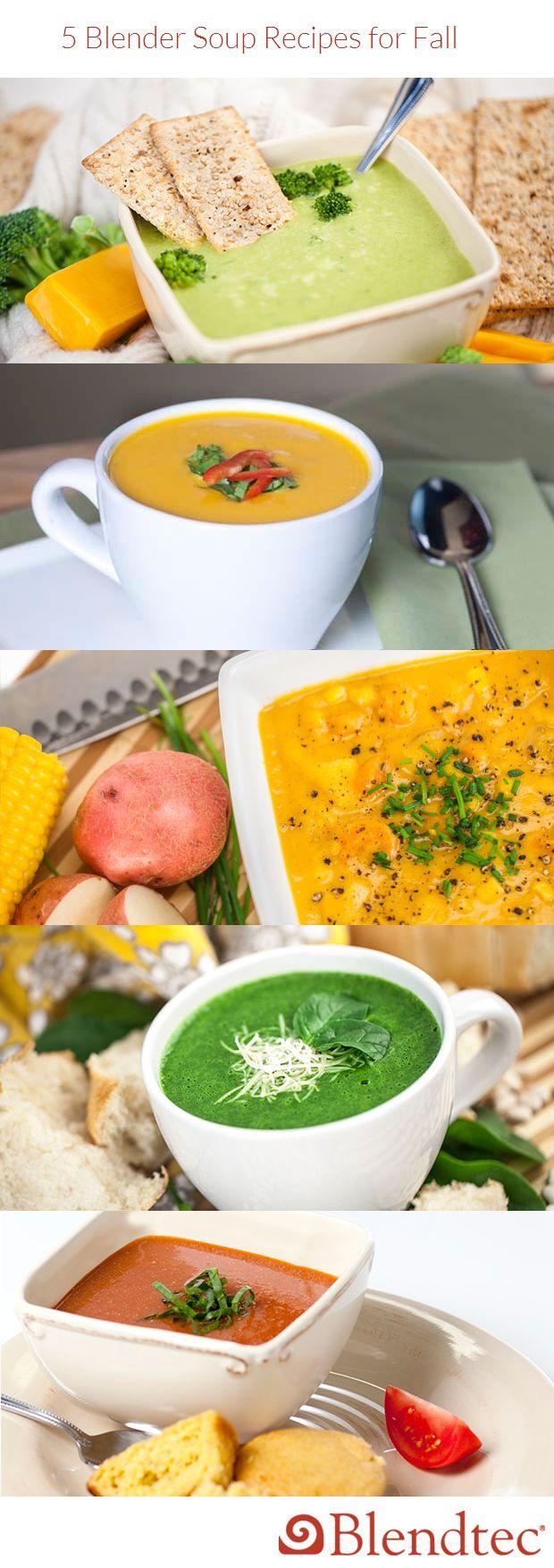 5 Blender Soup Recipes for Fall