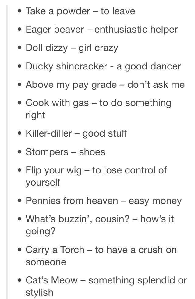 Killjoy Slang