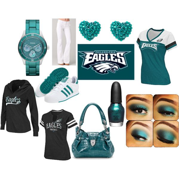#Eagles inspired look! Thanks Teriessa C.