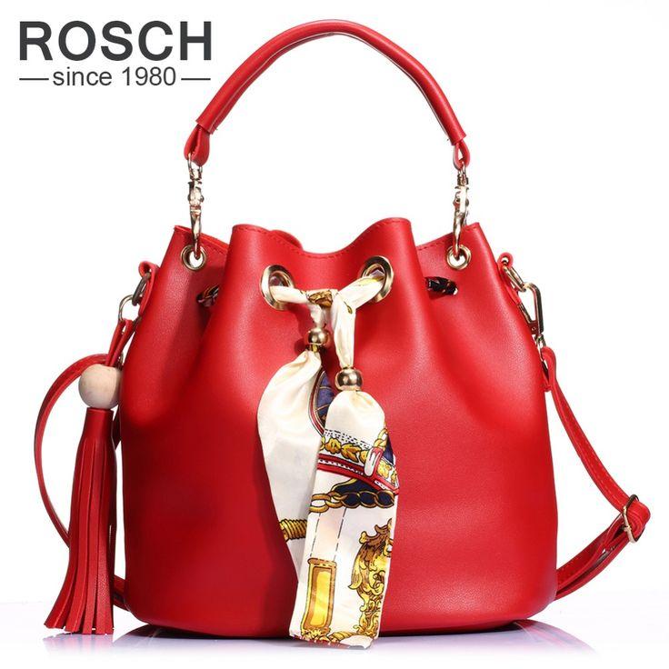 2 Set Women Bucket Bag Tassel Composite Handbag Luxury Brand Design PU Leather Female Messenger top-handle Tote with Ribbon //Price: $51.86 & FREE Shipping //     #womenfashion