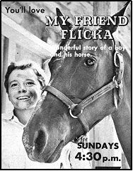 """TV GUIDE ad for """"My Friend Flicka"""". """"MY FRIEND FLICKA"""""""