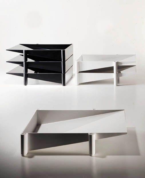 enzo mari modern sumatra letter tray