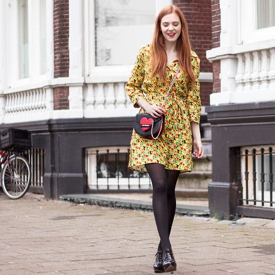 More looks by Sonja Vogel: http://lb.nu/retrosonja  #elegant #preppy #retro #cats #catprint #colorful #amsterdam #dutch