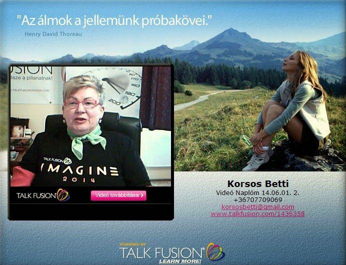 Személyes Blogom : Videó Naplóm http://korsosbetti.blogspot.hu/p/video-naplom.html Kérlek, segíts Te is Szintikének! 8 éves kislány akinek van egy álma: járni és beszélni szeretne, (mosolyban , Hitben nincs hiány...) Ha már megosztod a blogot, az eseményt, azzal is sokat segítettel. NYILT CSOPORTBAN várjuk a jó szándékú és segítőkész embereket. https://www.facebook.com/groups/1617604488464017/