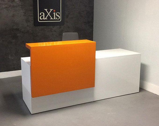Los Angles L Shape Reception Desk In Custom Finishes Em 2020 Com