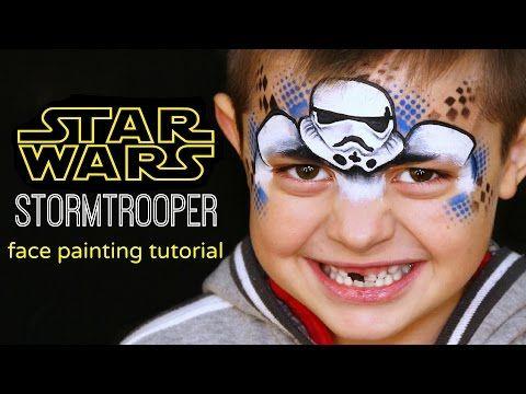 "Stormtrooper ""STAR WARS"" — Face Painting Tutorial — Аквагрим ""Звездные Войны"" - YouTube"