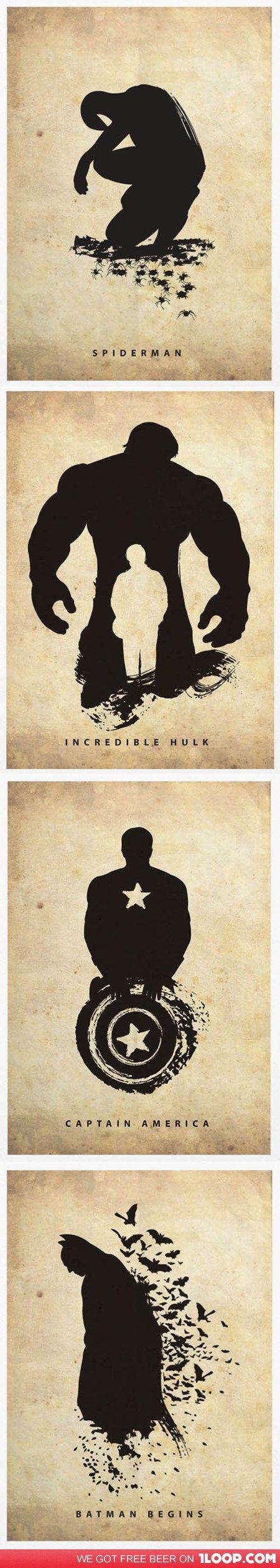 Spider-man, Hulk, Captain America, and Batman. totally sick.