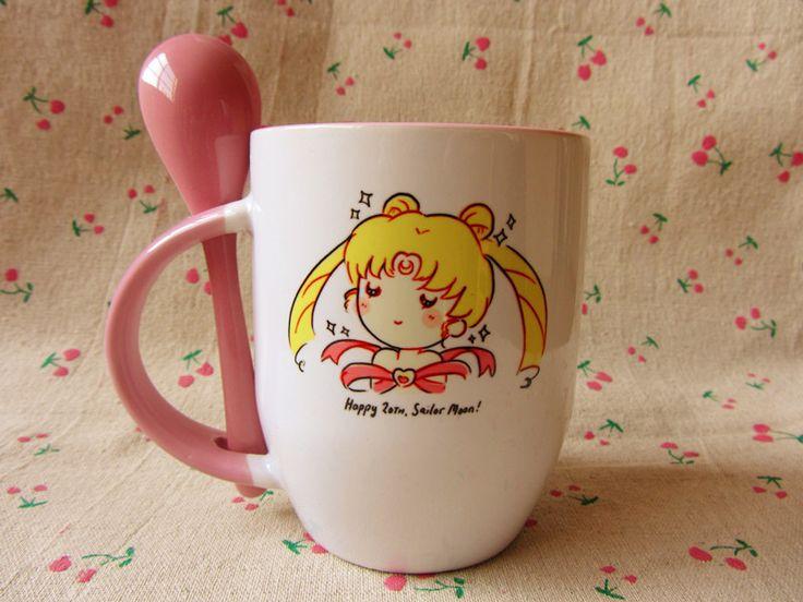 [Limited] Sailor Moon Sailor pink bunny mug surrounding March Hare - Taobao