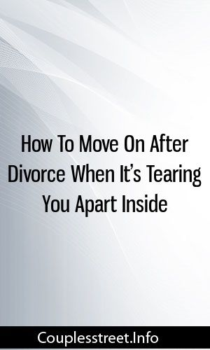 How to get over divorce and move on