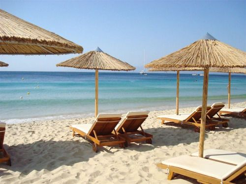 Koukounaries beach… one of the most famous beach  of Skiathos island,Greece Skiathos island,Greece