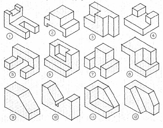 12 isometric blocks                                                                                                                                                                                 Mais