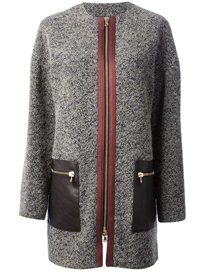 ETRO Bouclé Knit Coat #farfetch
