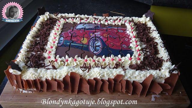 Blondynka Gotuje: Tort Czekoladowy z Kremem Limonkowym