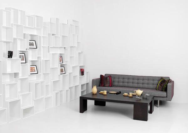 Customizable Cubit Shelving System Transforms Interiors - http://freshome.com/2012/04/04/customizable-cubit-shelving-system-transforms-interiors/